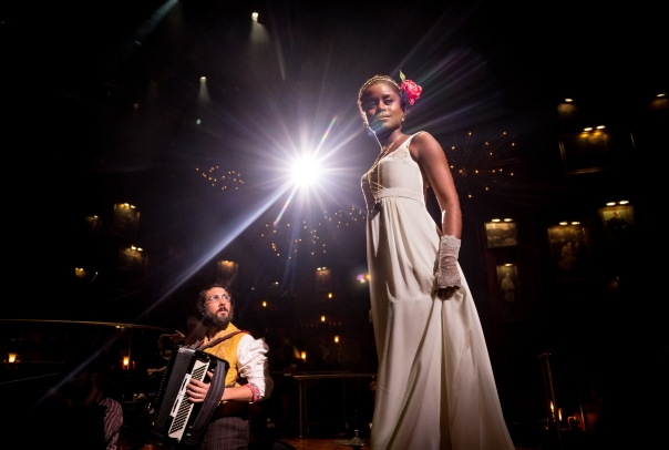 112858 Josh Groban and Denée Benton in NATASHA, PIERRE & THE GREAT COMET OF 1812 - Photo by Chad Batka